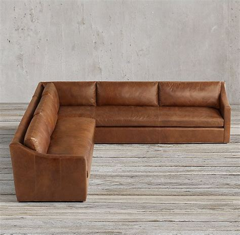 belgian slope arm sofa rh s petite belgian classic slope arm leather customizable