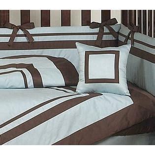 Hotel Crib Bedding Sweet Jojo Designs Hotel Blue And Brown Collection 9pc Crib Bedding Set
