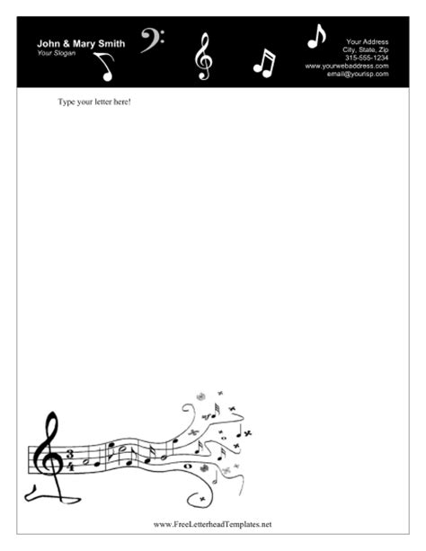 templates for musicians personal letterhead