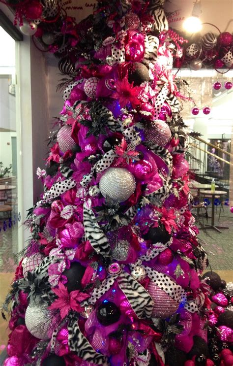 good pink and black christmas tree 78 for with pink and