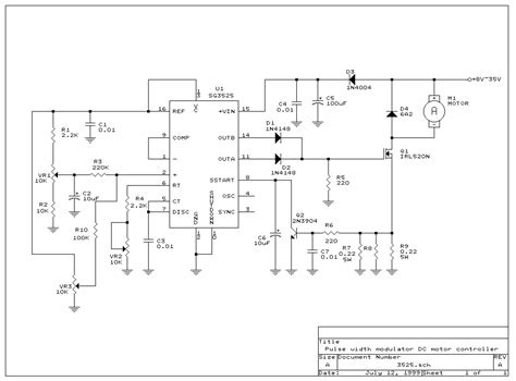 Pwm Dc Motor Driver Control Sg3525 Dc Motor Driver Projects