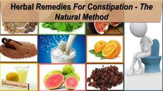 herbal remedies for constipation the method