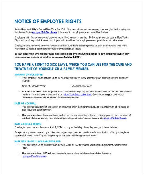 notice of personnel template 8 employee notice exles sles