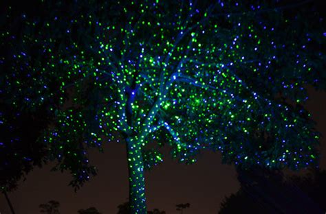 fairy light laser lights for christmas trees outside with