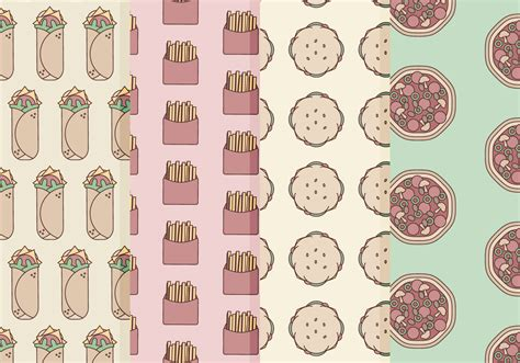 pattern food vector vector fast food patterns download free vector art