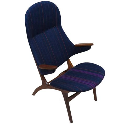 High Back Lounge Chair by Mid Century High Back Lounge Chair At 1stdibs
