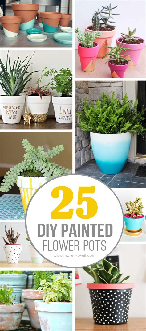 diy painted flower pot ideasyoull love