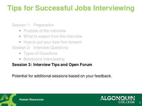 successful interviewing tips and techniques ppt video online