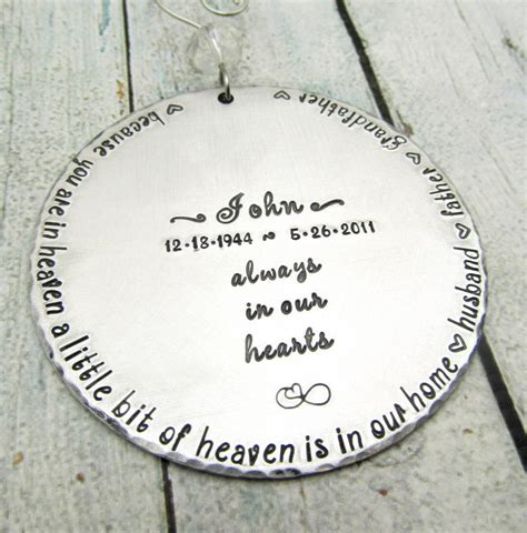 memorial ornament personalized ornament hand sted