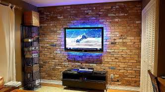 how to build an exposed brick veneer on an interior wall