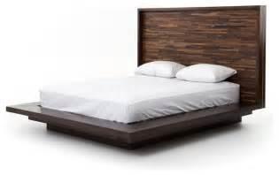 Bed Frame Wood Queen Devon Reclaimed Wood Queen Platform Bed Frame Rustic