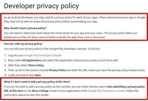 Google May Soon Delete Millions Of Apps From The Playstore Android App Privacy Policy Template