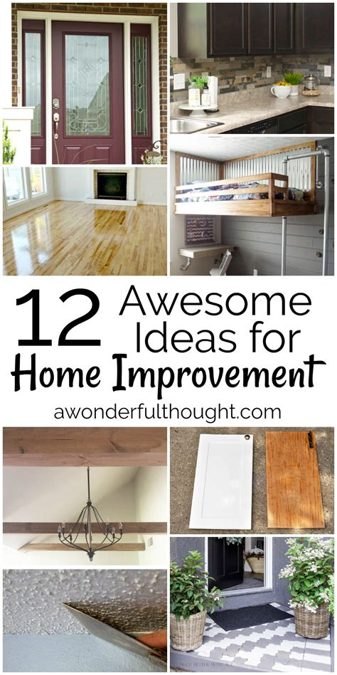 12 awesome home improvement ideas awonderfulthought