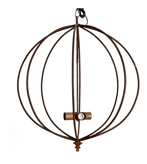 Mid Century Iron Sphere Light Fixture Chairish
