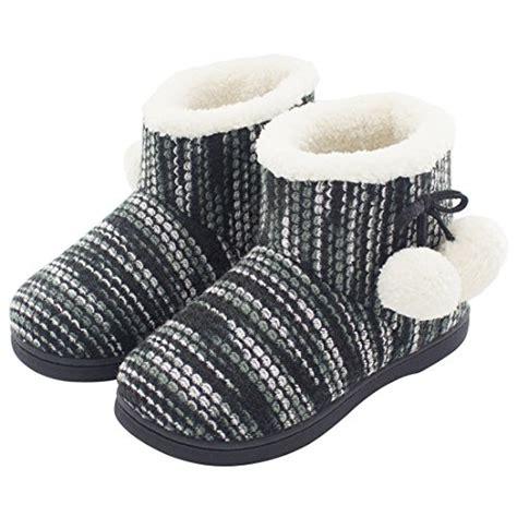 fuzzy bootie slippers hometop women s fuzzy knitted memory foam indoor