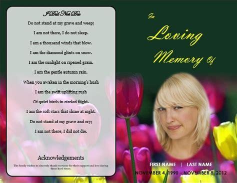 microsoft office funeral program template funeral order of service template printable memorial