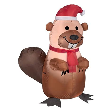 airblown inflatables shop gemmy 3 51 ft lighted beaver at