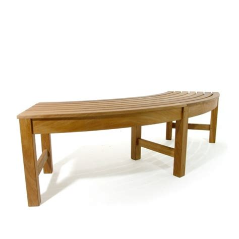 bench outlet new westminster buckingham teak backless curved bench on sale