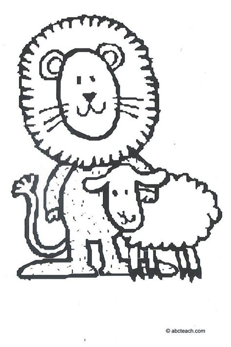 March Lion Coloring Page | lion and lamb coloring pages coloring home