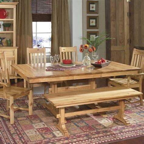 i like the idea of adding a bench to a large country table