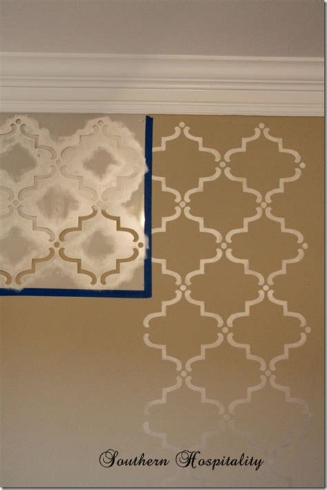wall template stencils how to stencil a wall a giveaway southern hospitality