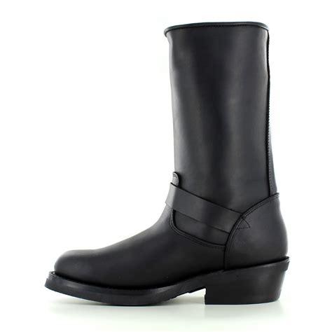 womens black leather biker boots rebel womens leather mid calf biker boots black