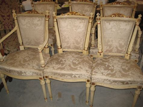 2085181 Set Of Six Painted French Dining Chairs For Sale Painted Dining Chairs For Sale