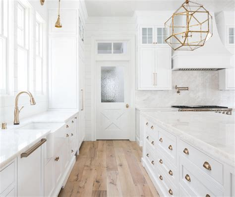 white cabinets with antique brass hardware 37 beautiful farmhouse interior designs the home