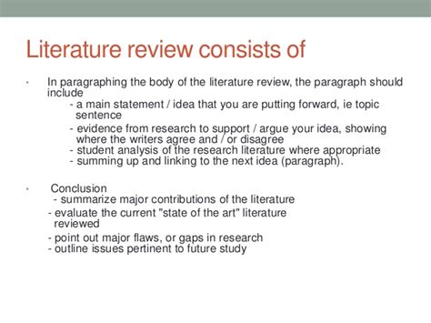 themes in literature review 7 chapter 3 a writing literature review