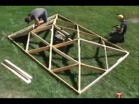 Patio Gazebo 10 X 12 World S Fastest Wooden Hip Roof Wmv Youtube