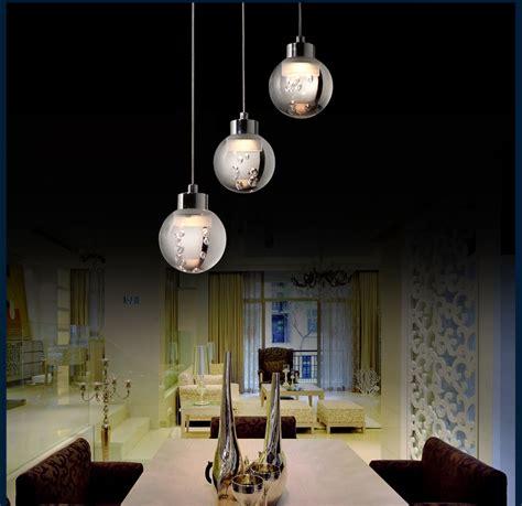 Pendulum Lights For Kitchen Led Pendulum Light Sd8139 03a 3x5w Adjustable Height Hanging Chrome Acrylic Ebay