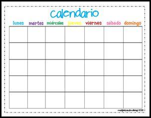 spanish calendar clipart