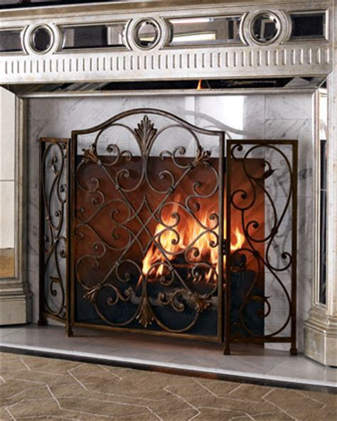 Fireplace Iron Screens by Iron Fireplace Screen Horchow