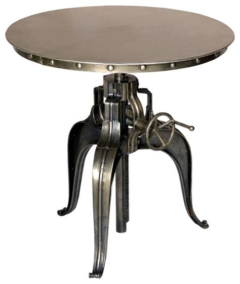 Industrial Bistro Table Crank Top Metal Bistro Table Industrial Indoor Pub And Bistro Tables By Custom