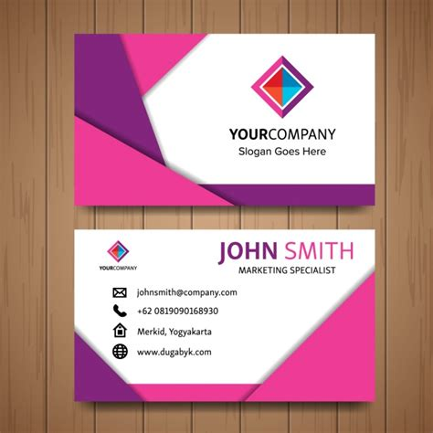 business cards shapes templates pink business card with geometric shapes vector free