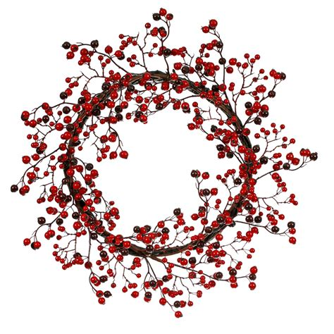 22 inch outdoor red burgundy berry wreath p101422
