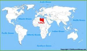 Libya World Map libya location on the world map