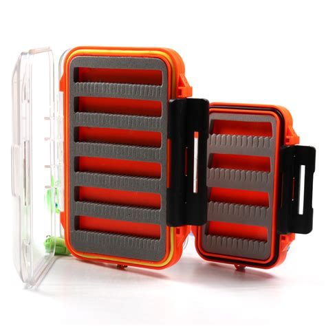 Wao9 Waterproof Pouch Consina 01 2 bimoo 1pcs 2 layer fly fishing pocket box waterproof for nymph flies trout carp