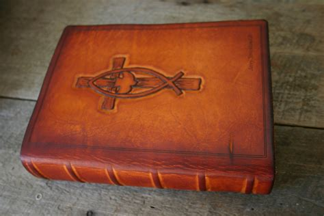 Handmade Bibles - personalized leather custom bible cover by sonshineleather