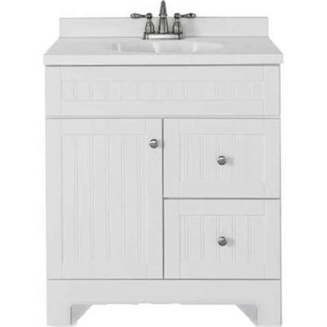style selections bathroom vanity lowes deal style selections 31 in ellenbee white bathroom vanity with top now 199