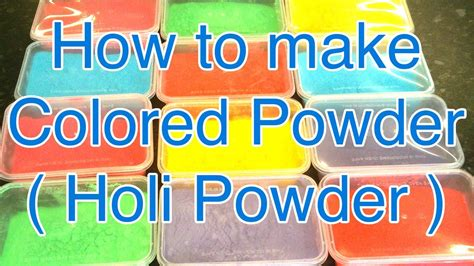 how to make color run powder how to make color powder how to make color powder balls
