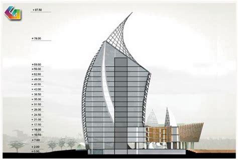 koran arsitektur menara phinisi universitas negeri makasar sulawesi selatan