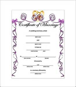 printable marriage certificate template printable marriage certificate template sle templates