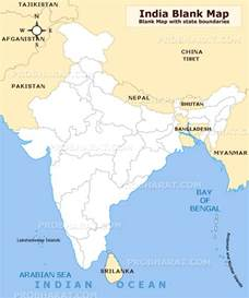Outline Map Of India by Blank Map Of India And Surrounding Countries Pictures To Pin On Pinsdaddy