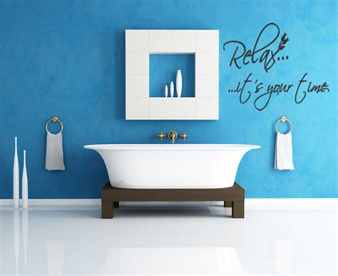 relax wall relax it s your time home decoration wall sticker living room wall picture bathroom wall tile