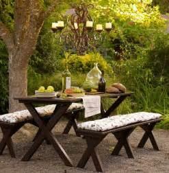 Backyard Table Benches Garden Furniture Home Decoration Club