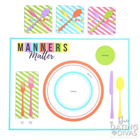 printable placemat table manners matter the dating divas
