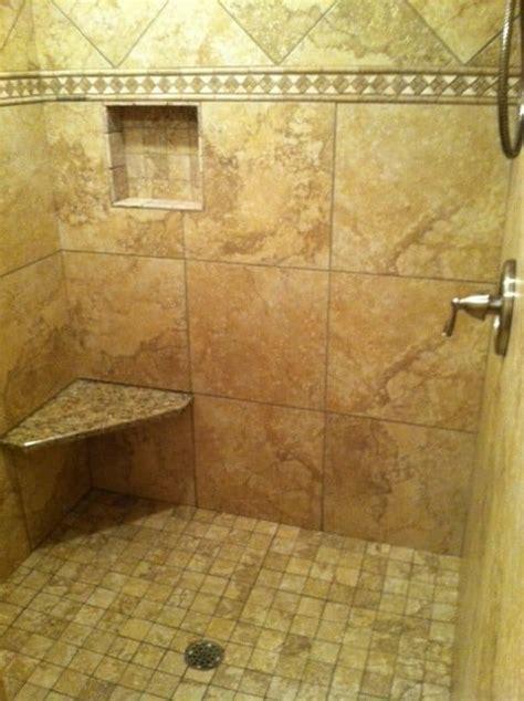 Beautiful Custom Walk In Shower With No Doors Installed Tiled Walk In Shower No Door