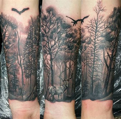 tattoo forest deer forearm all pinterest tattoo