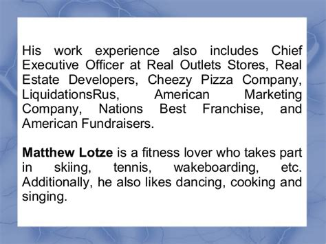 Best Mba Programs For Real Estate Development by Matthew Lotze Has Of Years Of Experience In Various